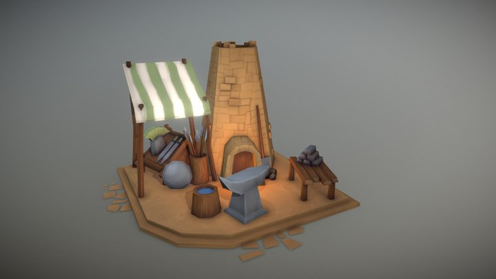 Blacksmiths Forge 3D Model