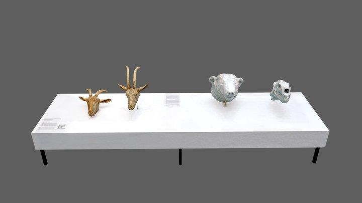 Ziegen & Eisbär Knut 3D Model