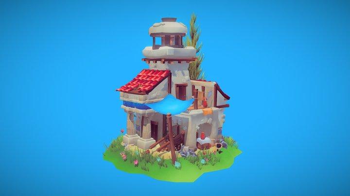 Greek lighthouse 3D Model