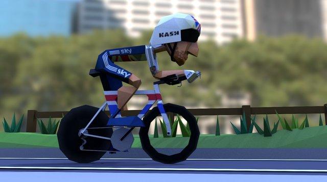 Poly Peloton : Wiggo at the World Championships 3D Model