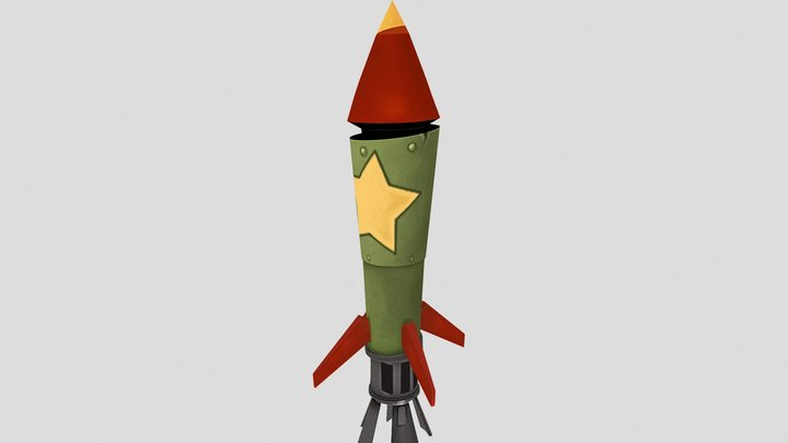 Rocket Stylized 3D Model