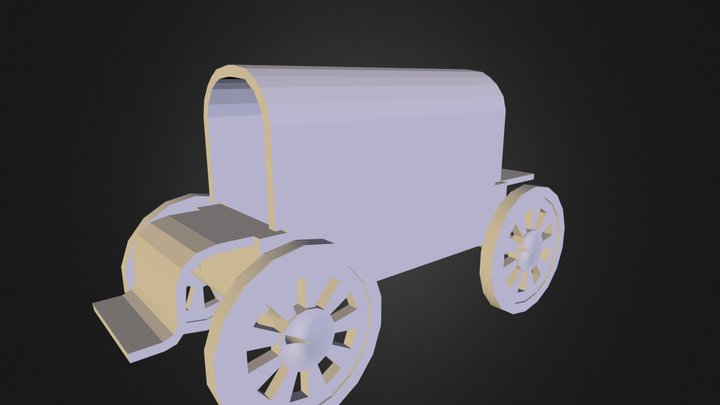 Low sitting wagon.3DS 3D Model