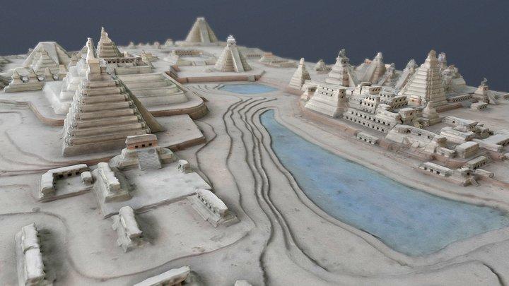 Model of central Tikal, MUNAE, Guatemala 3D Model