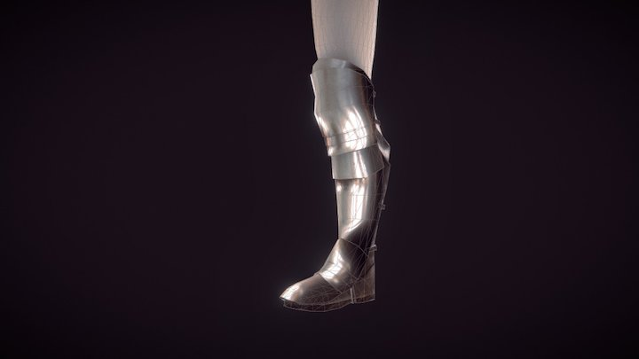 Low Poly Boots 3D Model