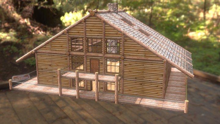 Log House (Joseph St.Arnault) 3D Model