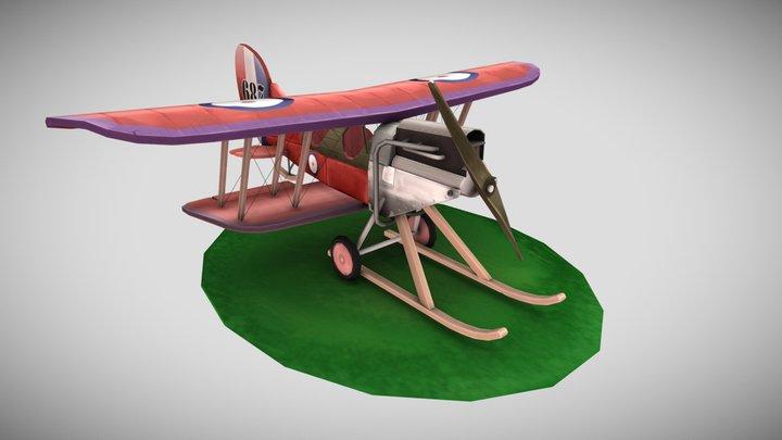 WW1 - RAF BE2c Stylized plane 3D Model