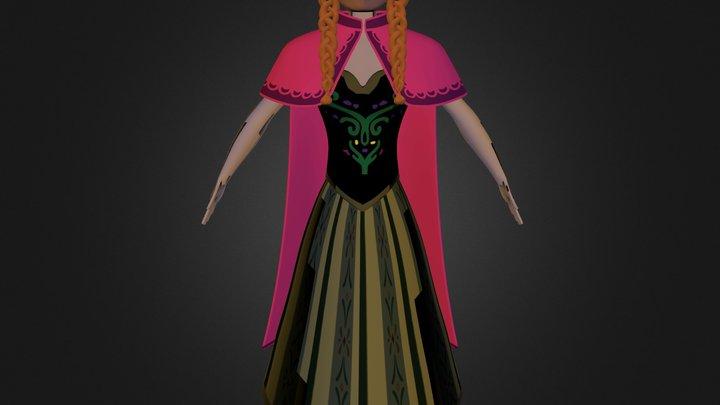 modelado cabeza Anna 3D Model