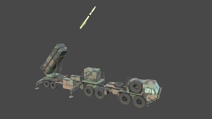 MIM-104 Patriot Launcher 3D Model