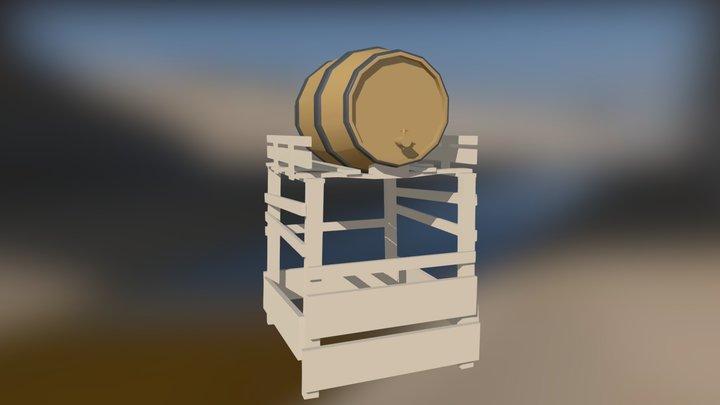 Medieval Tavern - Ale dispenser 3D Model