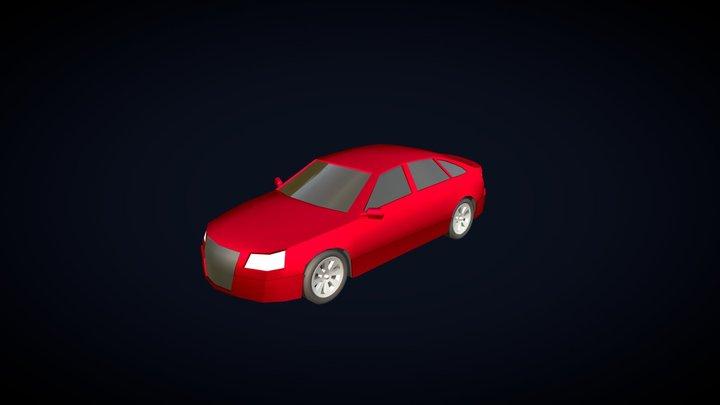Low Poly Car - Sedan 3D Model