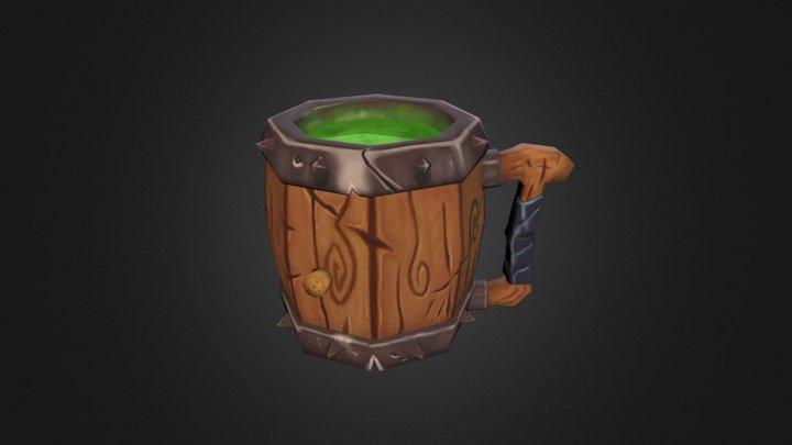Lowpoly Mug 3D Model