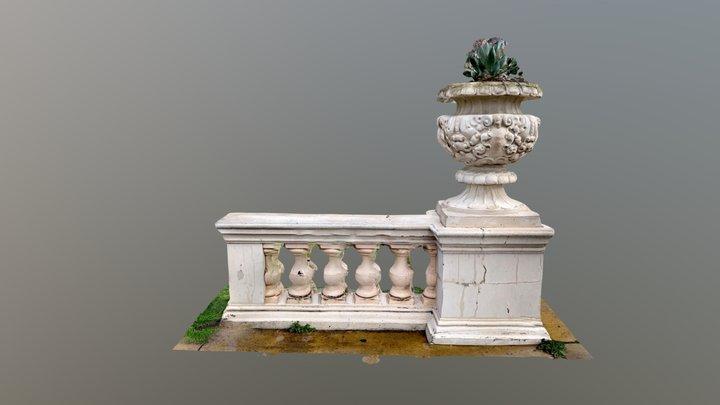 Crumbling Balustrade 3D Model