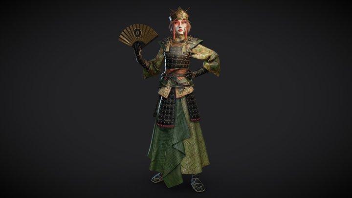 Kyoshi warrior Suki (ATLA fanart) 3D Model