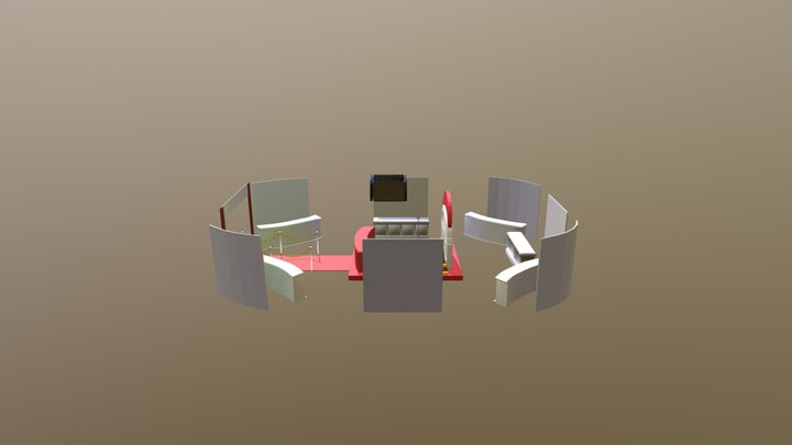 Stand para Oktober Fest 3D Model
