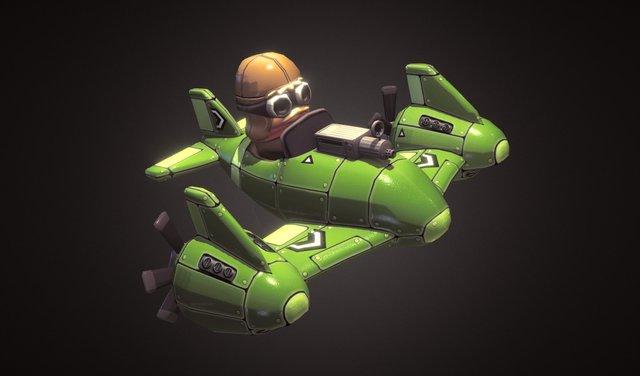 Toony plane 2 3D Model