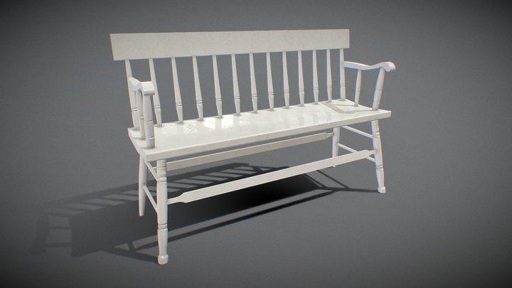 Bench black Painted 3D Model