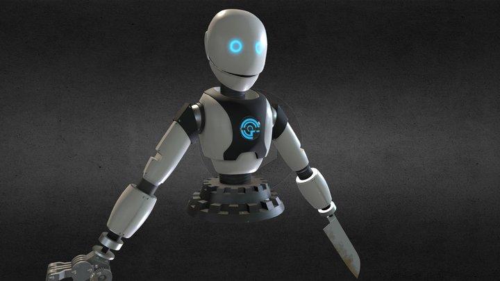 Cooking Robot 3D Model