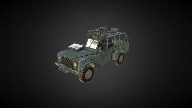 Military Land Rover 3D Model
