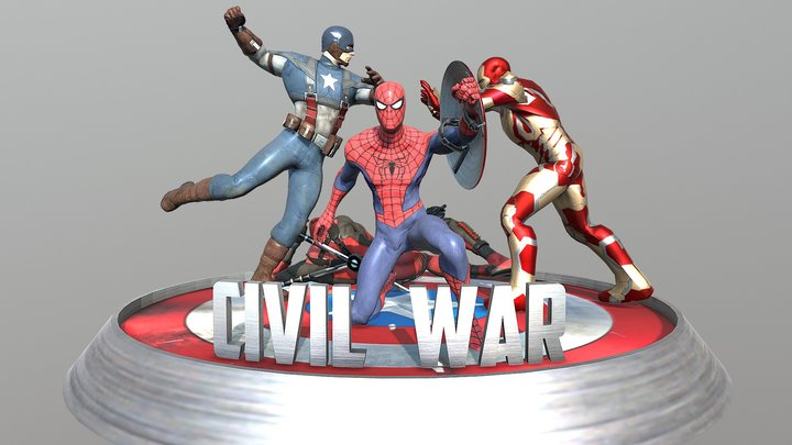 Captain America - Civil War 3D Model