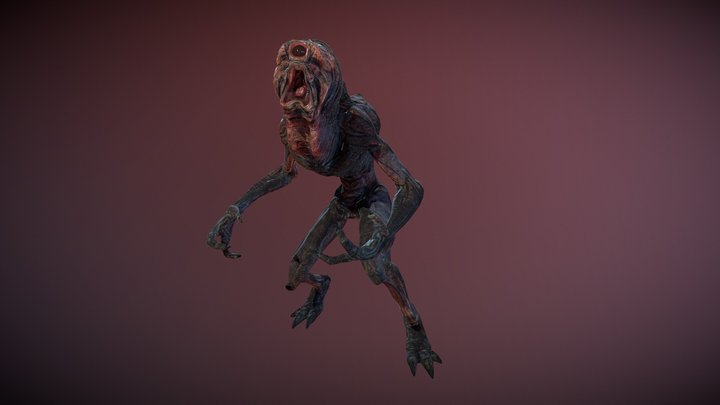 Monsters - Night Crawler 3D Model
