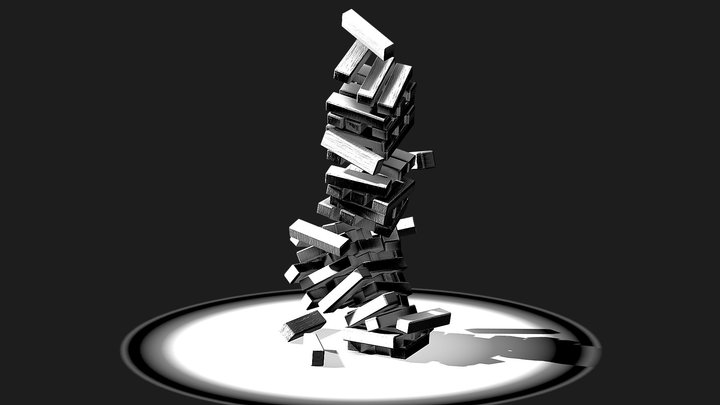 Jenga game - Inktober 3D Model
