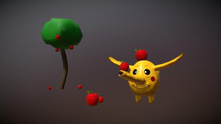 Tree Trunks Comp 2 3D Model