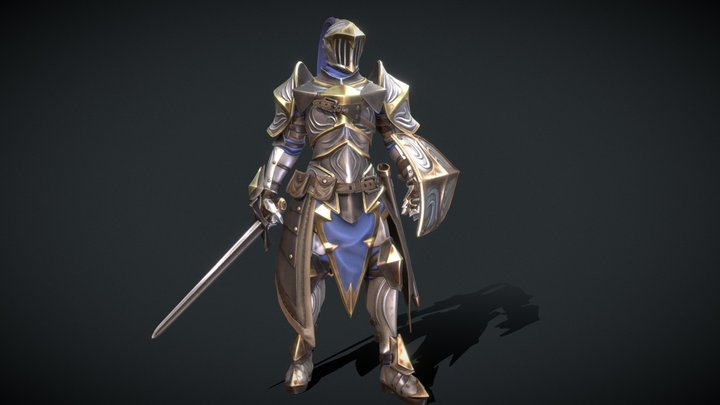 Stylized Knight - Game Ready Character 3D Model