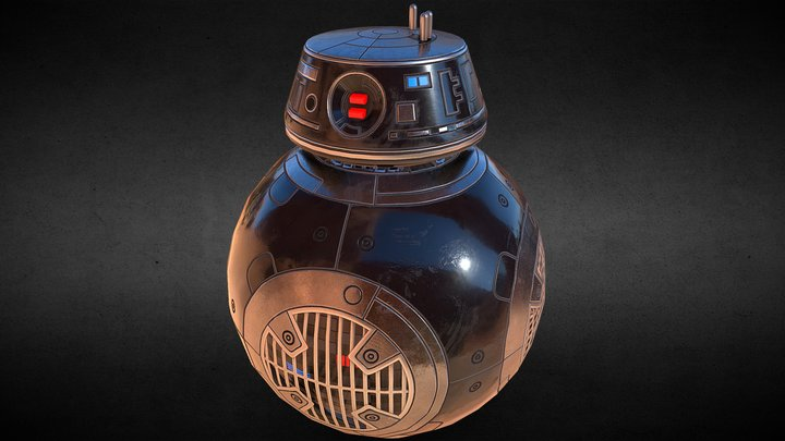 BB-9E Star Wars 3D Model