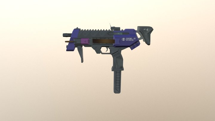 Overwatch Sombra's Gun - Low Poly 3D Model