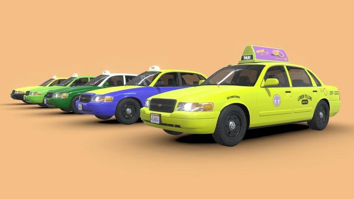 2008 Baird Silver Coronet LA Cab Collection 3D Model