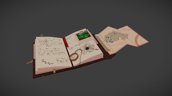 Low Poly Challenge: Amazon Rainforest Journal 3D Model