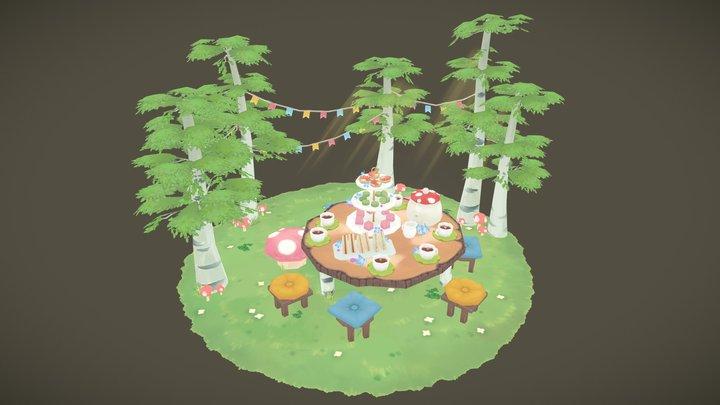 Forest Tea Party 3D Model