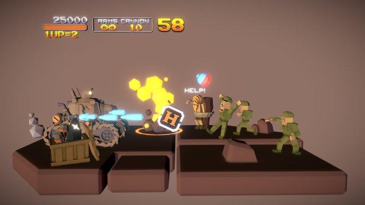 [Lowpoly] Metal Slug - Arcade Challenge 3D Model