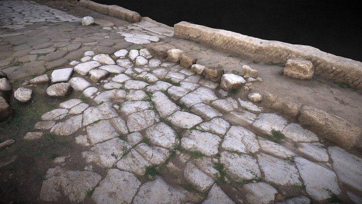 Ancient roman road for Metateca Project 3D Model