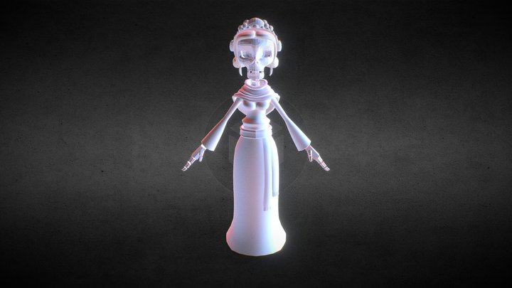 Calaca Frida 3D Model
