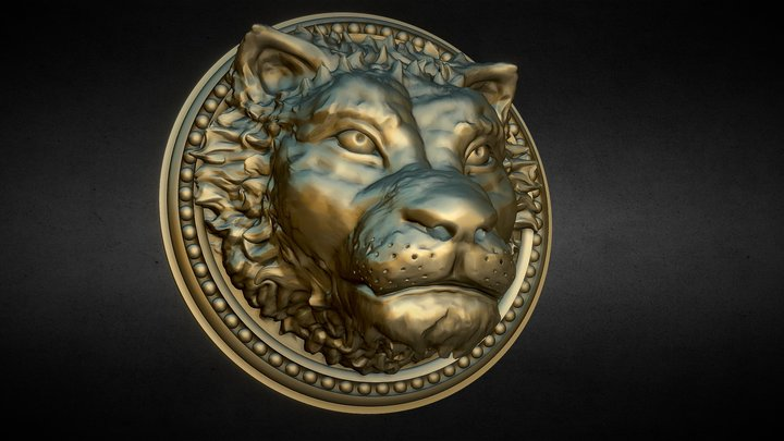 Nemoriko`s : Lion Ornament 3D Model