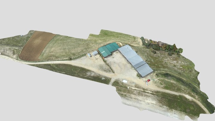 HANGAR Aerodromo 2 Simplified 3d Mesh 3D Model