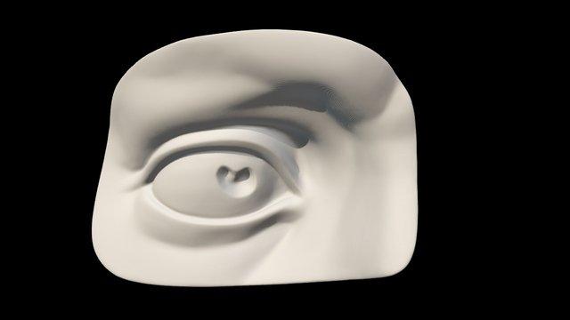 Michelangelo David's eye 3D scan 3D Model