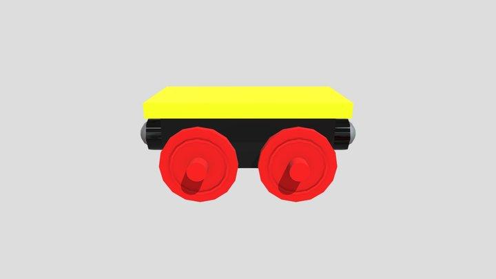 Wagon with Plinth 3D Model