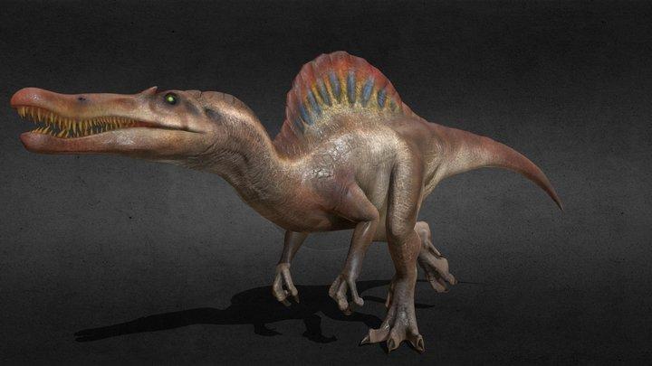 Spinosaurus of Jurassic Park (Rigged & Animated) 3D Model