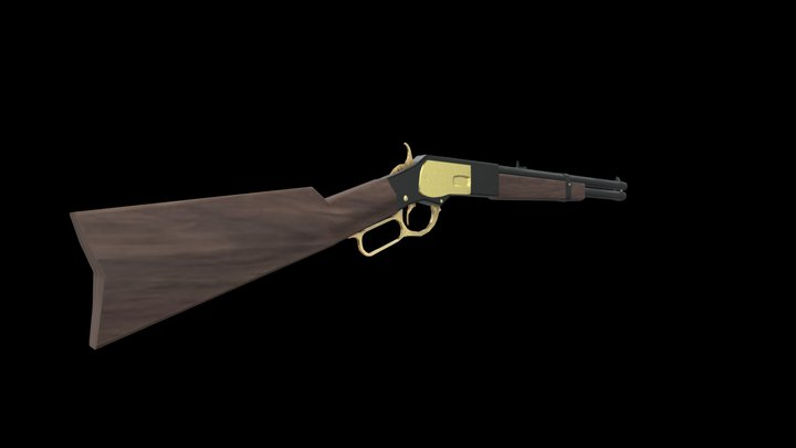 Winchester 1873 rifle 3D Model
