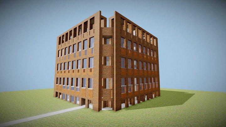 Louis Kahn - Exeter Library 3D Model