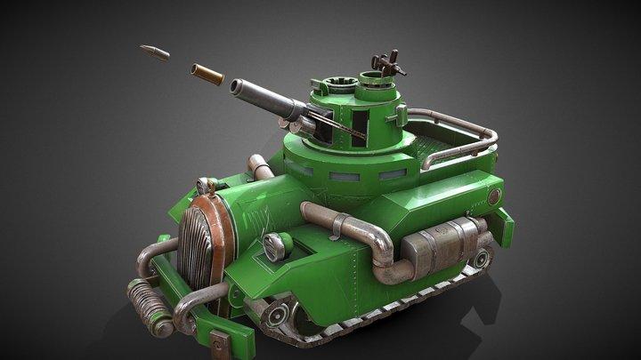 """Tank """"Sigmund Freud"""" 3D Model"""
