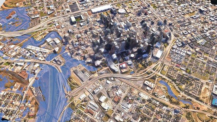 Aerial of Houston 3D Model
