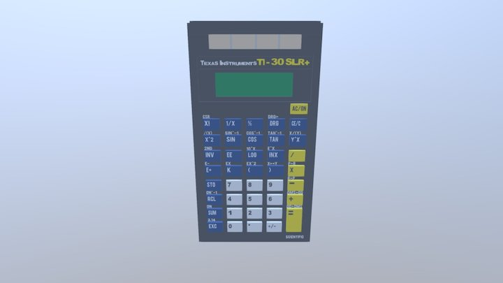 Texas Instruments TI-30+ Solar 3D Model