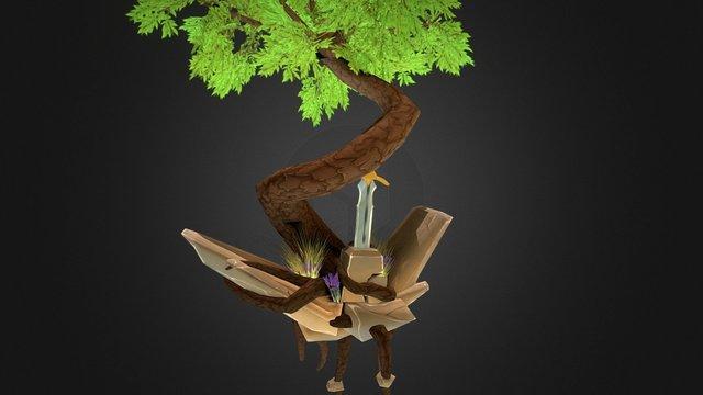 Sword in Stone 3D Model