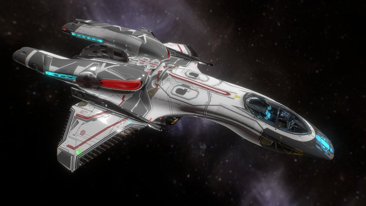 AC-409 Valkyrie-class Warp Fighter 3D Model