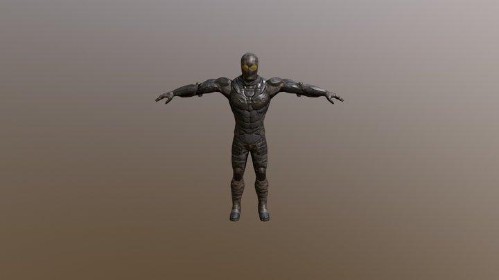 SciFi Warrior Viktor 3D Model