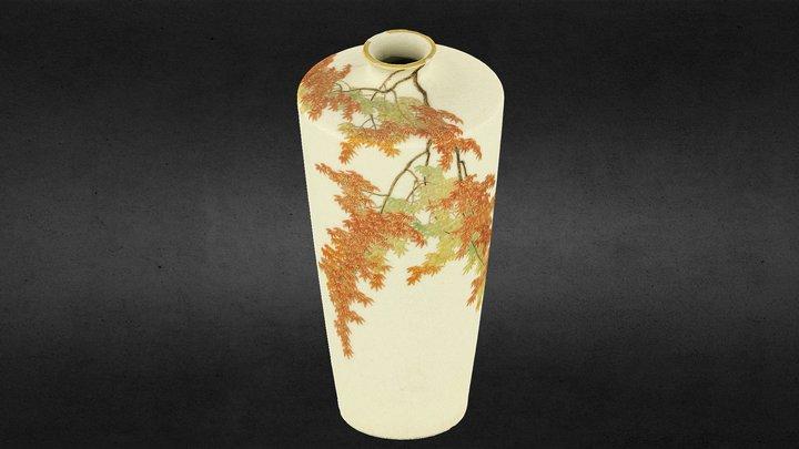 Japanese Satsuma vase by Yabu Meizan (1868-1912) 3D Model