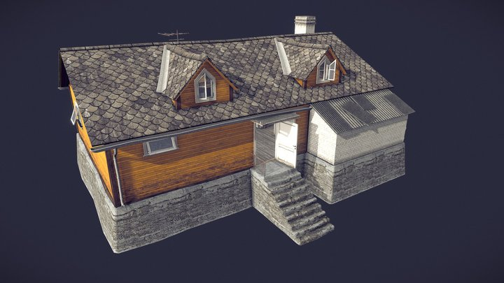 Eastern European House 01 3D Model